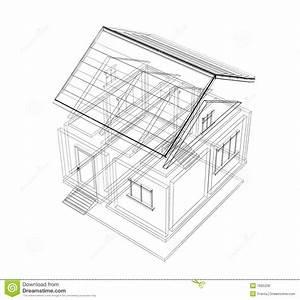 croquis 3d d39une maison photos libres de droits image With croquis d une maison
