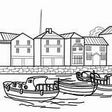 Port Coloring Coloriage Bateaux Imprimer Bateau Ship Gratuit Savoir Plus Colouring Coloriages Ships sketch template