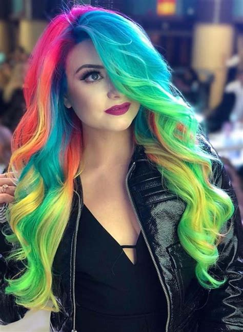 97 Cool Rainbow Hair Color Ideas To Rock Your Summer