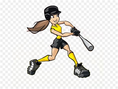 Fastpitch Softball Cartoon Baseball Clip Art