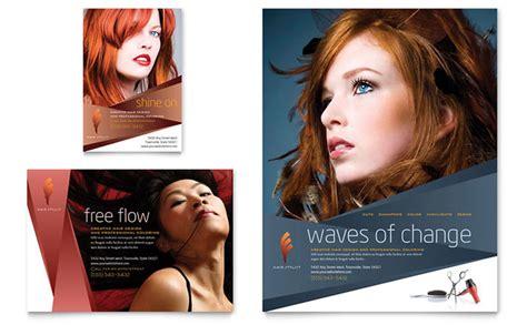Hair Stylist & Salon Flyer & Ad Template Design