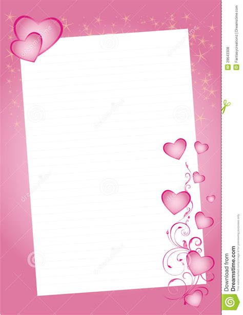 valentine hearts border royalty  stock  image