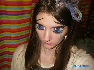 Crying Anime Eyes Make up by Luxurychoccie on DeviantArt