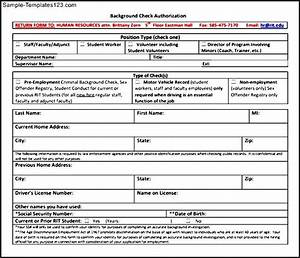 background check form template sample templates sample With background check application template