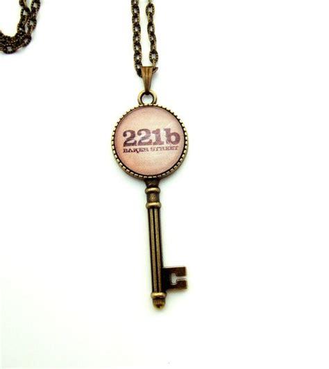 sherlock holmes necklace key gift fans bbc 221b literary jewellery