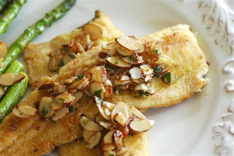 amandine trout rainbow lemon seafood parsley butter recipe almonds