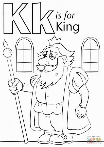 Coloring King Letter Pages Printable Nebuchadnezzar Ii