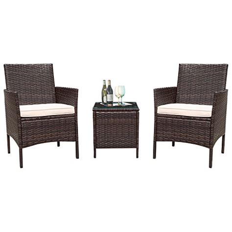 Wicker Patio Chairs Clearance by Flamaker 3 Pieces Patio Furniture Set Modern Outdoor