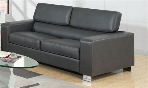 makri gray bonded leather match sofa  furniture
