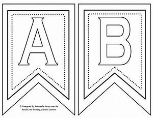 free printable banner letters a z 0 9 th st rd nd With pennant banner with letters
