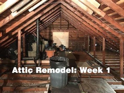 attic remodel week  youtube