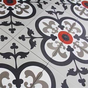 Carreaux De Ciment Rouge : carreau ciment fleur de lys carrelage ciment ~ Melissatoandfro.com Idées de Décoration