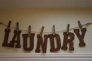 25 best vintage laundry room decor ideas and designs for 2017 With laundry letters sign