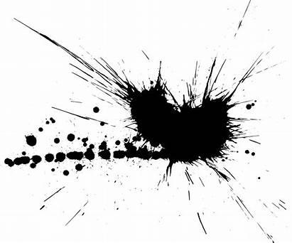 Splatter Paint Splash Ink Transparent Splatters Blot