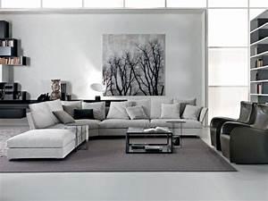salon avec canap d angle stunning dcoration et design du With tapis chambre enfant avec canapé d angle scandinave gris