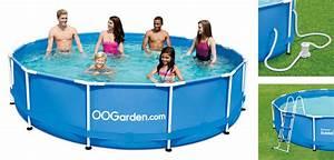 Piscine Tubulaire Oogarden : piscine tubulaire ronde bleue 3 66 x 0 91 m oogarden france ~ Premium-room.com Idées de Décoration