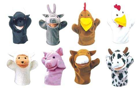 farm animal puppets of 8 learning 4