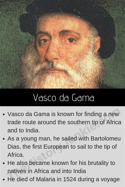 Vasco Da Gama Biography by Vasco Da Gama Biography Facts Timeline The History Junkie