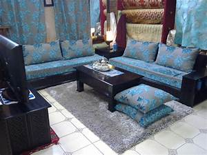 Salon Gris Bleu : salon moderne deco salon marocain ~ Melissatoandfro.com Idées de Décoration