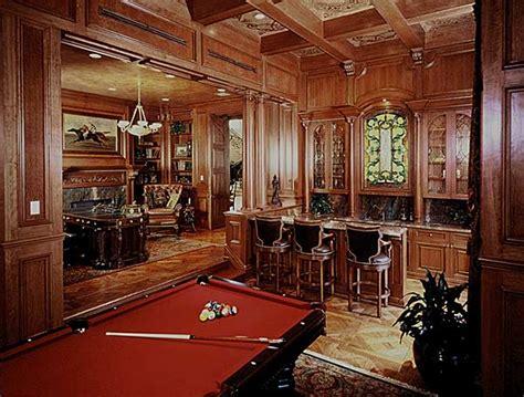 mahogany bar library