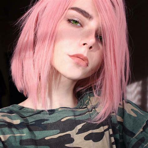 Face Girl Pink Hair Pinkish Skin Art Stuff Cabelo