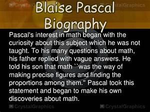 Blasie Pascal Contributions to Mathematics