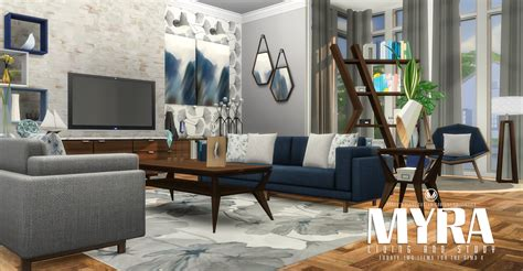 living room furniture sets my sims 4 myra living room set by peacemaker ic