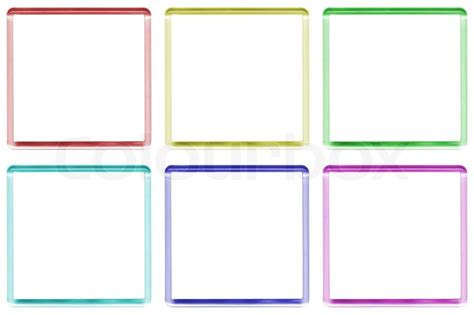 colored picture frames colored frames with space for text or illustrations