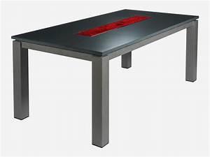 Table A Manger Salon : table de salon salle manger rectangle avec verre de murano rubis roc de france ~ Teatrodelosmanantiales.com Idées de Décoration