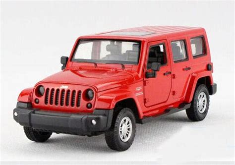 kids red jeep kids green red yellow 1 32 diecast jeep wrangler toy