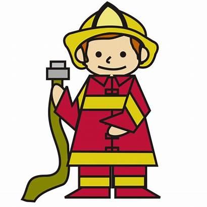 Clipart Fireman Boy Firefighter Clip Cartoon Fire