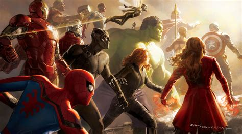 Wallpaper Avengers Infinity War, Artwork, Marvel Comics