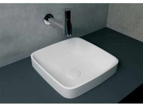Vanités Définition by Vasque 40x40 Cm En R 233 Sine Solid Surface Enea Blanc