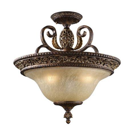 titan lighting regency  light burnt bronze ceiling semi