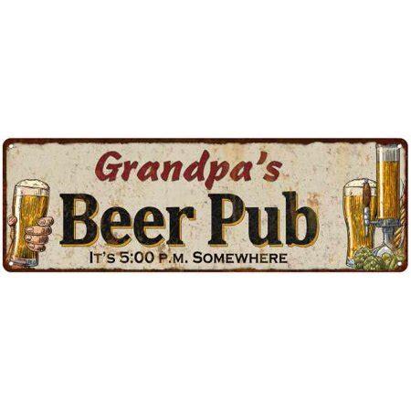 grandpas beer pub personalized man cave bar decor gift
