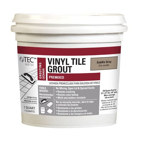 shop blue hawk saddle gray vinyl tile grout at lowes com