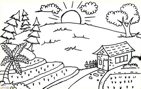 gambar pemandangan pegunungan dan pedesaan gambar