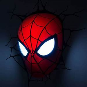 Spiderman Face 3D Deco Light - Fun Memorabilia Wall ...
