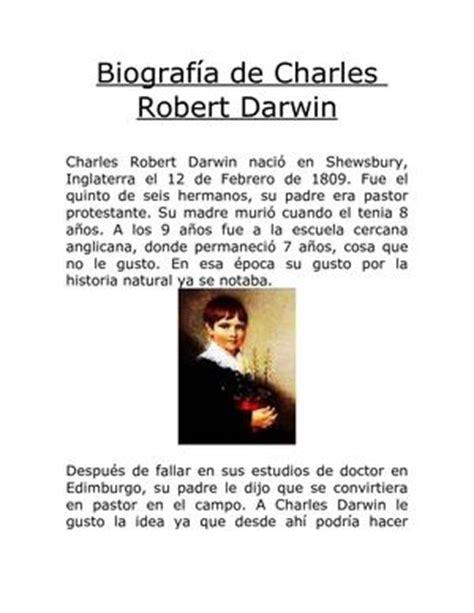 Charles Darwin Resumen Para Niños by Calam 233 O Vida Y Biografia De Charles Robert Darwin