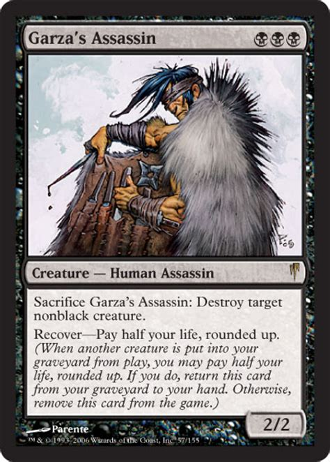 mtg rogue assassin deck coldsnap a recovery magic the gathering