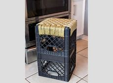 Turn a Crate Into a Kitchen Stool HGTV