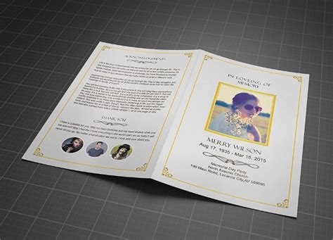 memorial brochure templates psd vector eps format