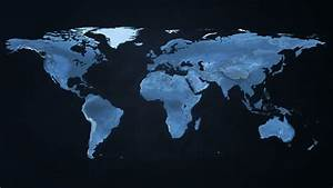 Digital World Map Stock Footage Video (100% Royalty-free ...