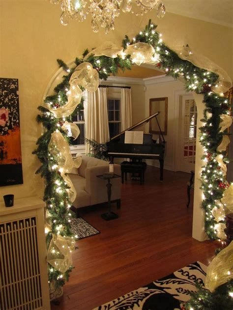 garland with lights garlands for stairs fireplaces and lights
