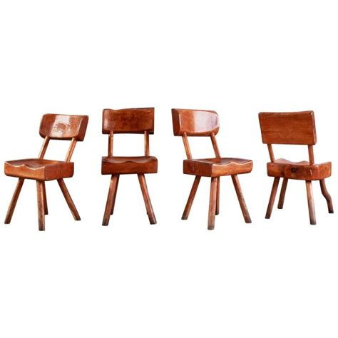 set of four rustic log chairs for sale at 1stdibs