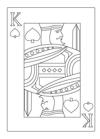 King of spade coloring sheet   Hearts playing cards, Heart