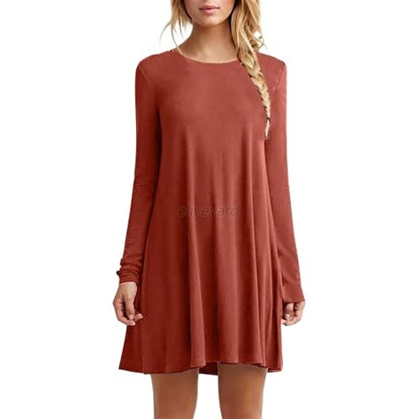 blouses and dresses fashion casual neck plain sleeve tunic t