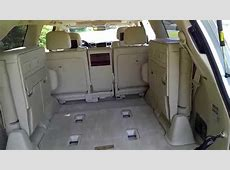 How To Operate 3rd Row Seats 2014 Lexus LX570 SUV YouTube