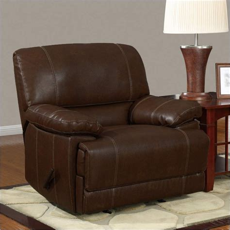 global furniture usa 9963 rocker chair rodeo brown bonded