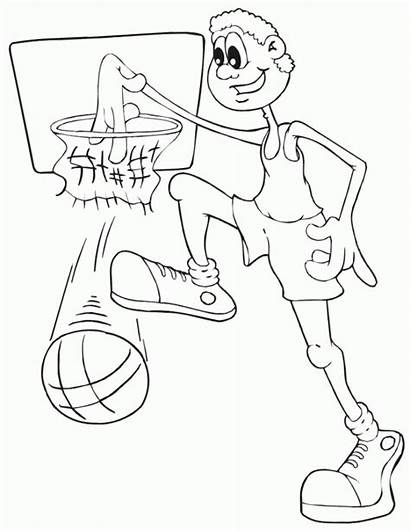 Basketball Tall Coloring Boy Dyscypliny Sportowe Kolorowanki